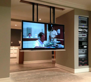 65 inch Panasonic Drop down display